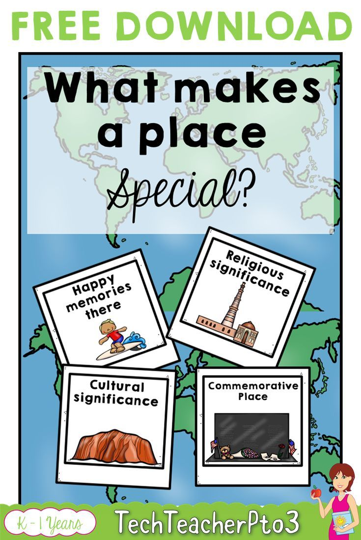 Geography Anchor Chart Special Places FREE DOWNLOAD | Free ...