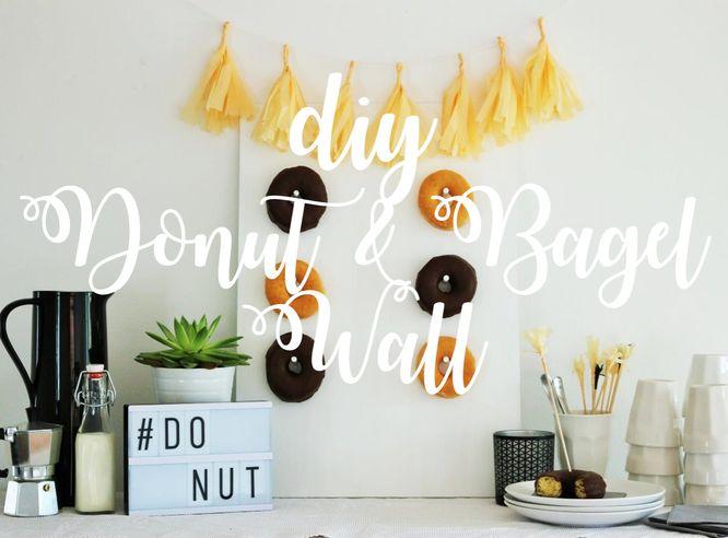 Partystories: DIY Donut/Bagel Wall, mit dieser Schritt-für-Schritt Anleitung Mit dieser Schritt-für-Schritt Anleitung machst Du eine eigene Donut/Bagel Wand für die Hochzeit oder jede andere Party als Deko, von www.partystories.de!