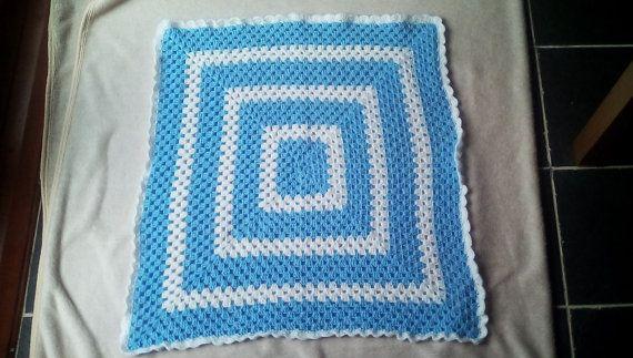 baby boy blanketbaby pram blanketboy pram blanket by crochetfifi