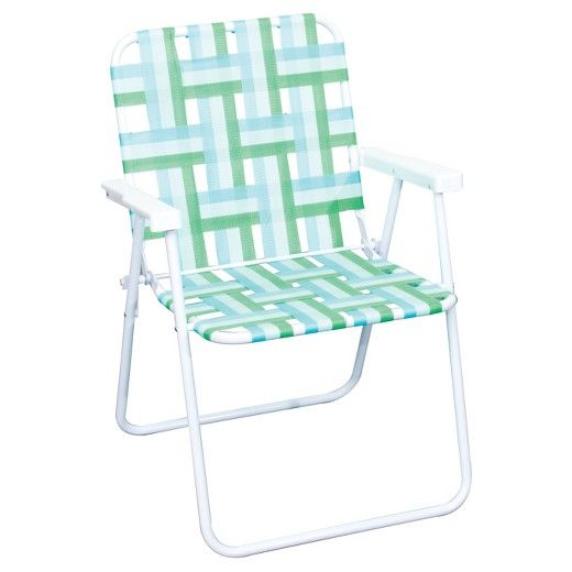 With a nod to midcentury modern patio furniture, the Outdoor Webstrap Folding Chair will enhance your decor on your patio or deck. Totally comfy seating for warm-weather days, friends and family will enjoy a lazy afternoon together.