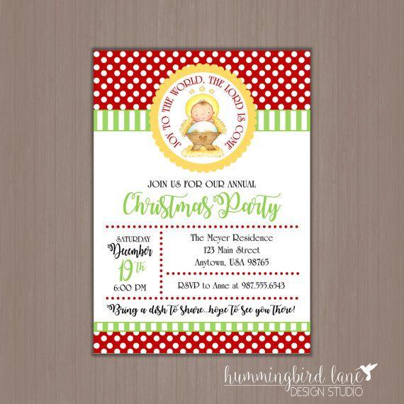 Sunday School Christmas Party Games: Baby Jesus Christmas Invitation