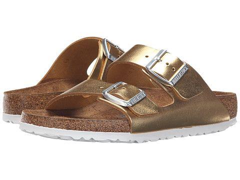 Birkenstock Arizona Soft Footbed Gold Metallic - Zappos.com Free Shipping BOTH Ways