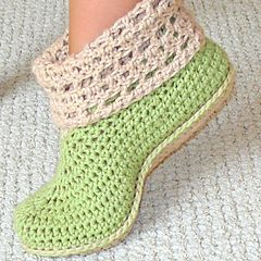 Ravelry: Cuffed booties crochet pattern adults and kids pattern by Genevive Hunter