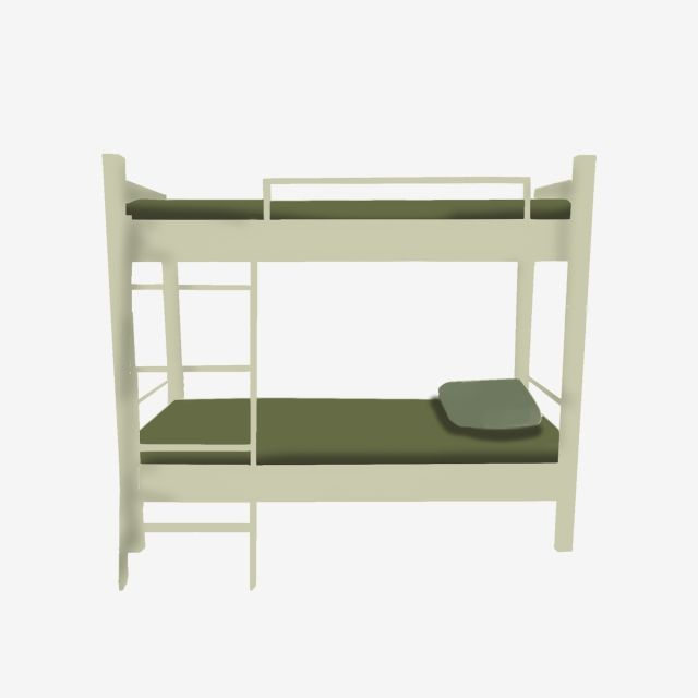 Hand Painted Military Bunk Bed For Commercial Elements Dormitory
