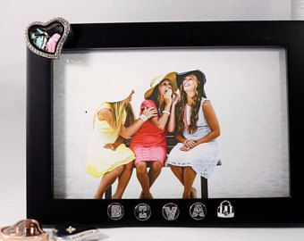 SHOP NOW FOR 20% OFF! Originally $32.99 | Shopping Frame, Diva, Friend Picture Frame, Best Friends Forever, Best Friend Christmas Gift, Picture Frame Charms | Cute Locket, High Heel