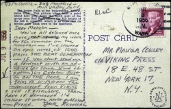 Scrittori di cartoline: Jack Kerouac, Franz Kafka, Rainer Maria Rilke. Email d'altri tempi !