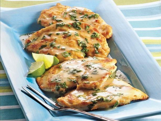 Southwestern Chicken Scaloppine    http://www.bettycrocker.com/recipes/southwestern-chicken-scaloppine/d3bb4f95-df11-426d-a54d-b937f7de0883?WT.dcsvid=MzIyMDg3OTA4OAS2&rvrin=36492C55-28D9-45DC-A9D7-84645618C769&WT.mc_id=Newsletter_BC_02_23_2012&nicreatID2=Newsletter_BC_02_23_2012
