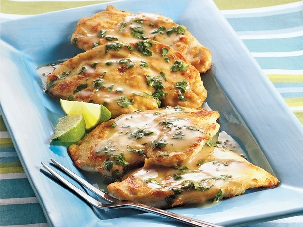 Southwestern Chicken Scaloppine-this would work with gluten free flour