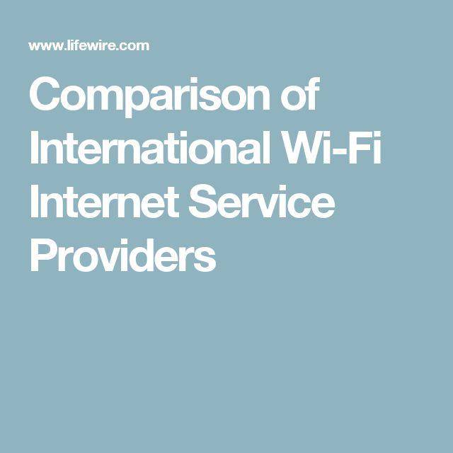 Comparison of International Wi-Fi Internet Service Providers