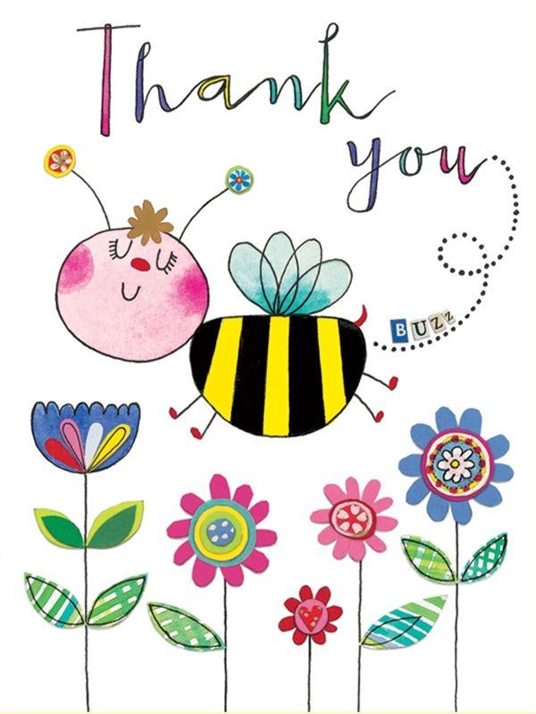 Gracias! por todos tu detalles amiga. Bee Thank You Card