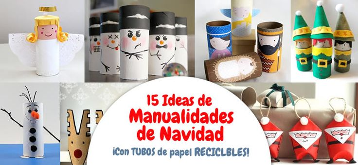34 best manualidades de navidad images on pinterest for Manualidades de navidad para ninos