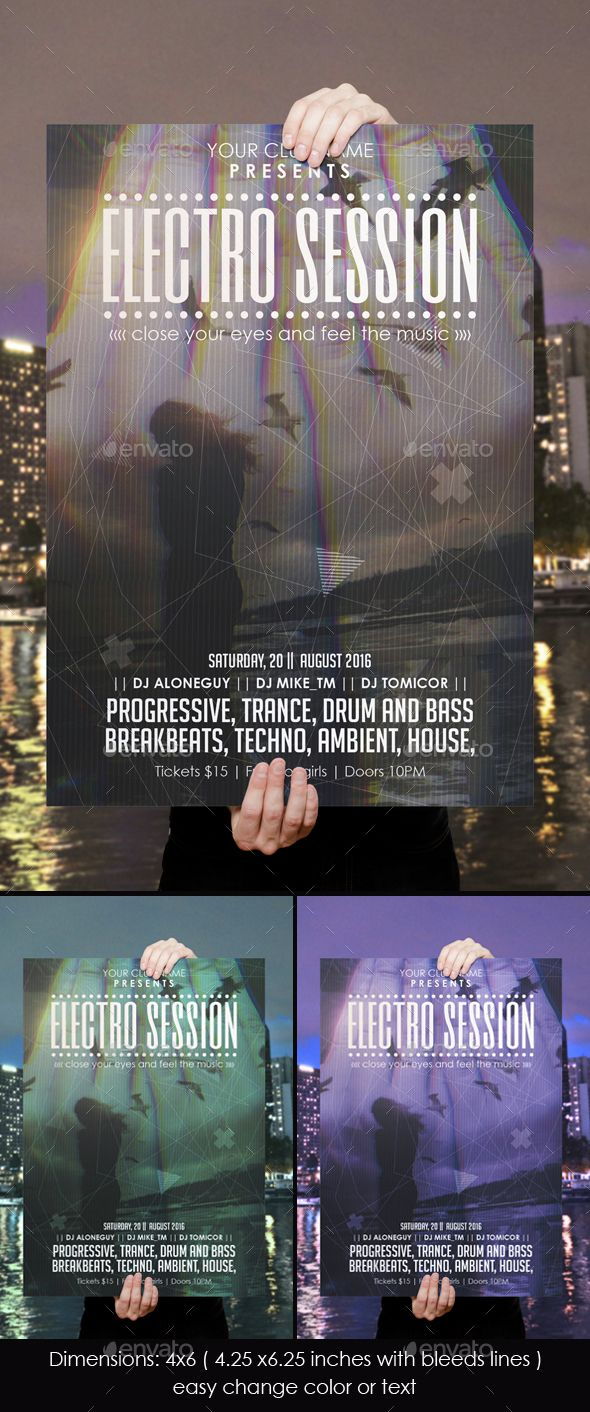 94 best poster design images on pinterest flyer template party electro session poster pronofoot35fo Image collections
