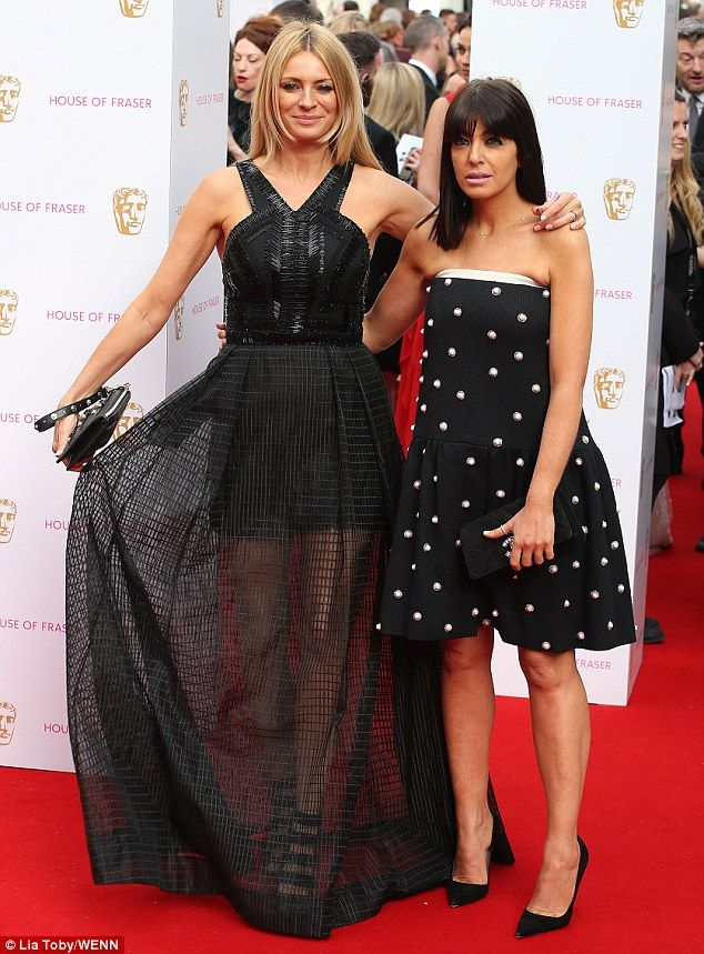 Looking good: Tess Daly and Claudia Winkleman were something of a double-act when they attended the BAFTA Television Awards on Sunday
