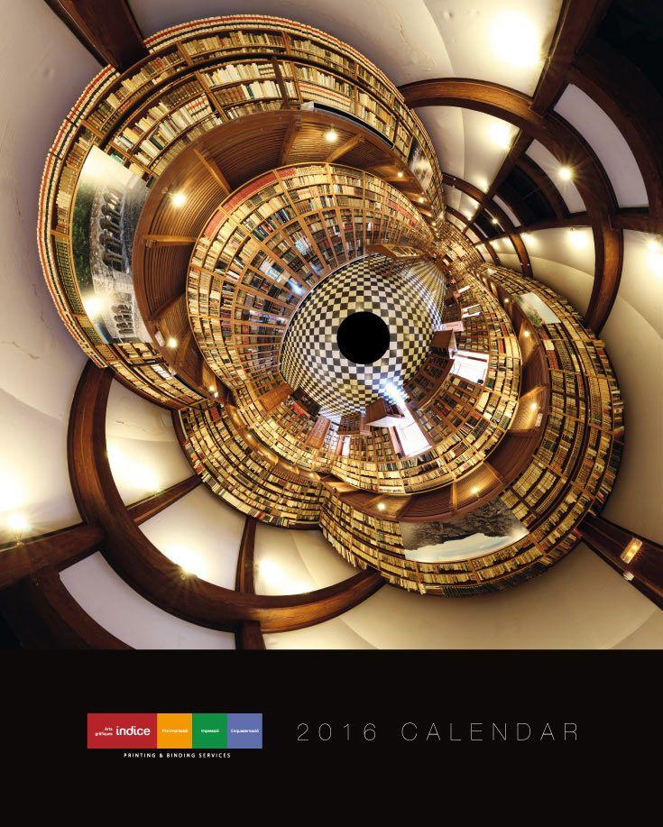 2016 Índice Calendar. Graphic design & photography by Albert Claret / Gigaphoto Project. #calendar #gigaphoto #biblioteques #2016