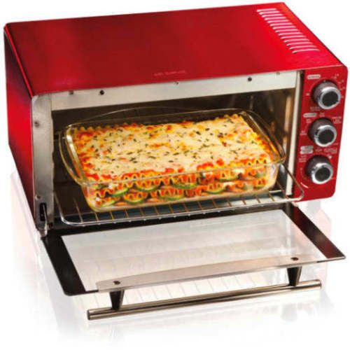 Countertop Oven Red : ... -Beach-6-Slice-Convection-Toaster-Broiler-Oven-Heating-Function-red