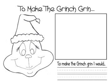 A simple writing activity that goes along with the story How the Grinch Stole Christmas.