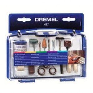 Set composto da 52 utensili multiuso dremel per fresare, smerigliare, lucidare, tagliare e levigare, modello Dremel 687.