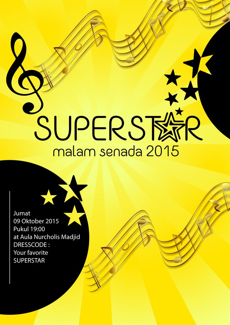 poster design for choir event