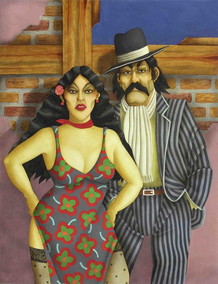 La Lujanera y Rosendo Juárez (2006) - Óleo s/hardboard 115 x 88