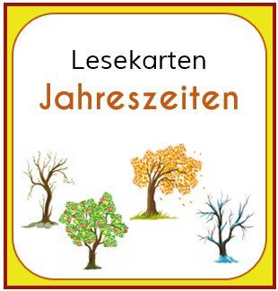 Hier gibt es neue Lesekarten - diesmal zum Thema Jahreszeiten. MATERIAL - Lesekarten Jahreszeiten