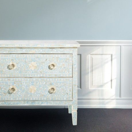 Flower mosaic chest of drawers from MOLLYSHOME.COM
