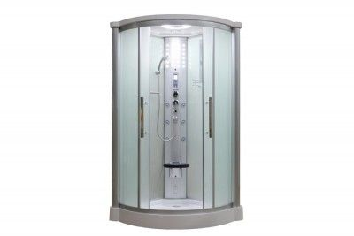 "Eagle Bath WS-801LF 42"" Frosted Glass Steam Shower Enclosure Unit"