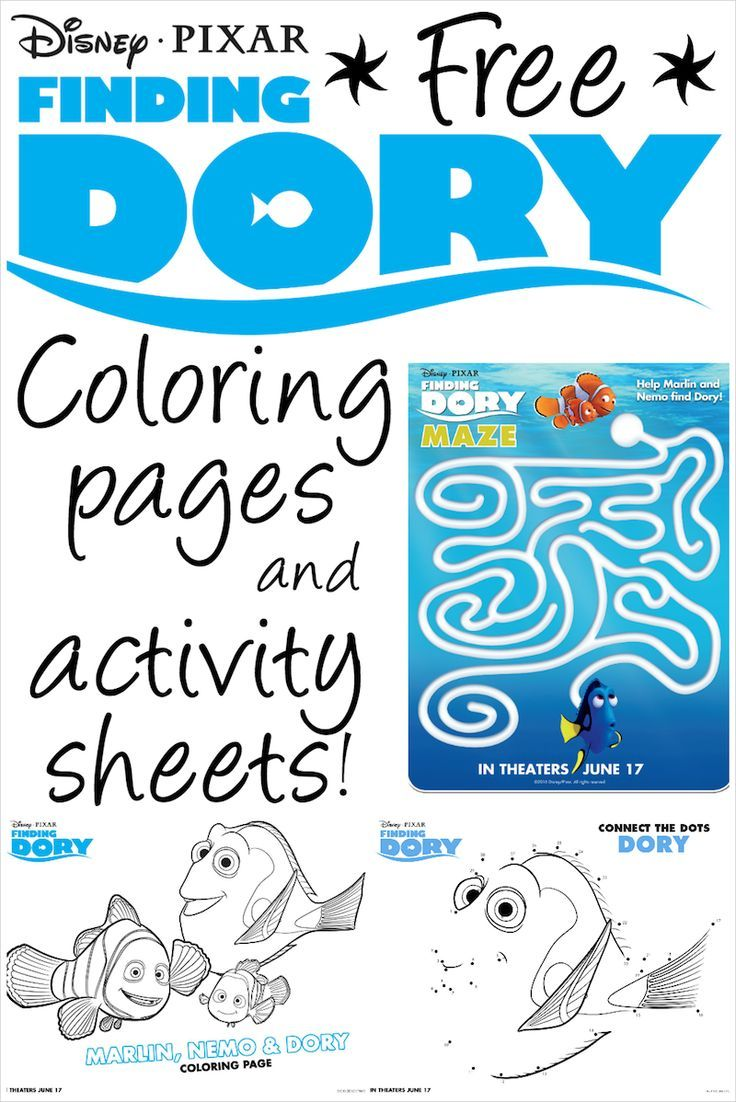 Finding Dory Printable Coloring
