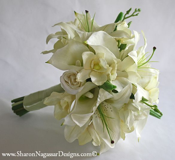 91211-White-Off-White-Ivory-Oriental-Tiger-Lilies-DendrobiumOrchids-CallaLilies-Roses