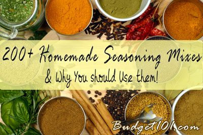 Over 200 Homemade Seasoning Mixes  --  everyone needs to check these out!  There's seasonings for everything you cook.