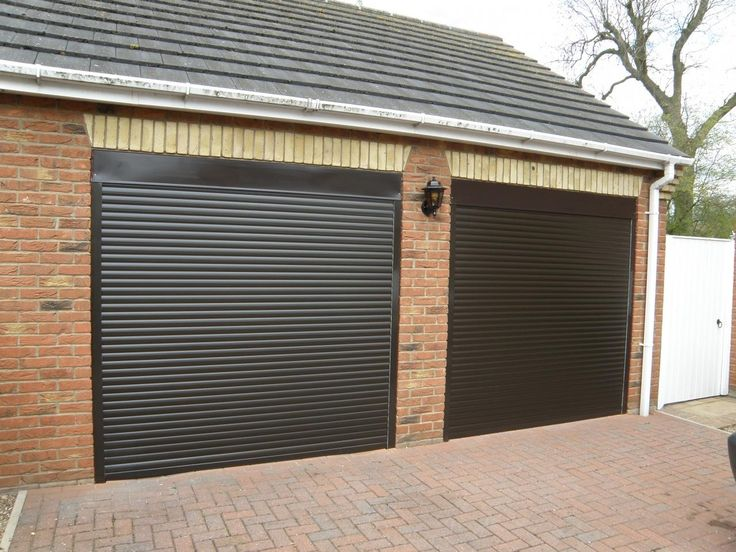 Electric Roller Double Garage Doors