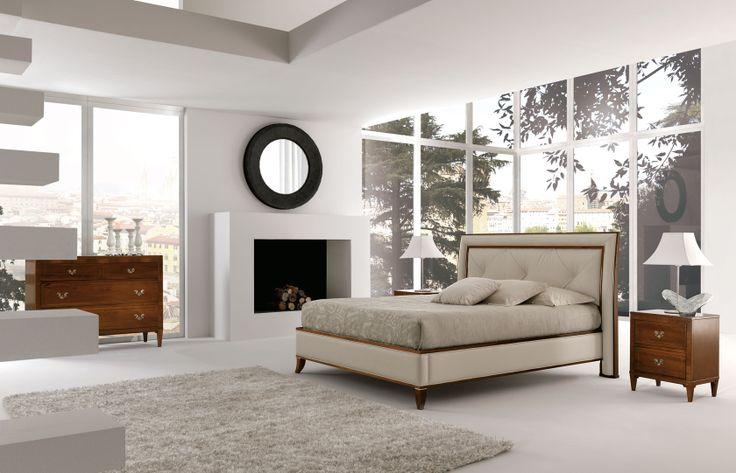 MASSON MATIÉE arredamento classico, camere da letto classiche, como e comodini, credenze in legno classice | letto 1031 | comò antheo 90 | comodino antheo 91