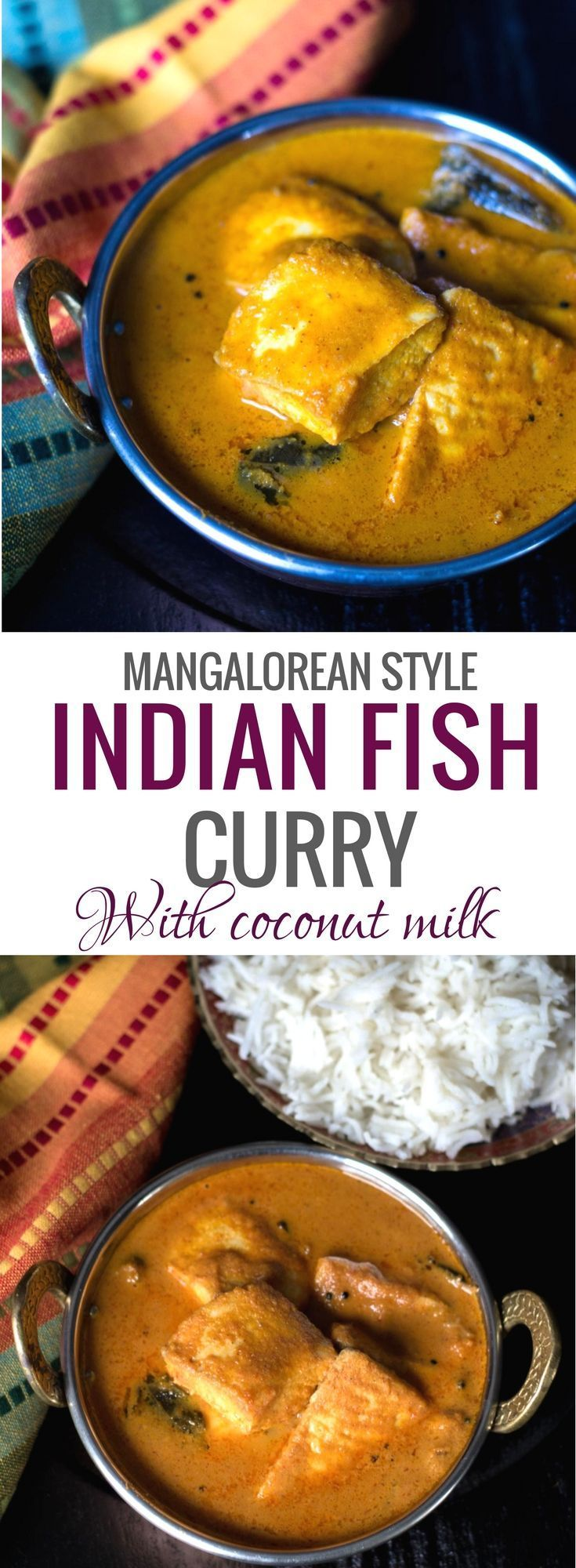 Indian fish curry with coconut milk - Amaze your family with your culinary skills when you serve them this tangy and flavorful fish curry Mangalorean Fish curry or as it's locally called, 'Meen Gassi'. #Indiancuisine #healthyindianrecipes #ethniccuisine #worldcuisine #indianfood via @simmertoslimmer