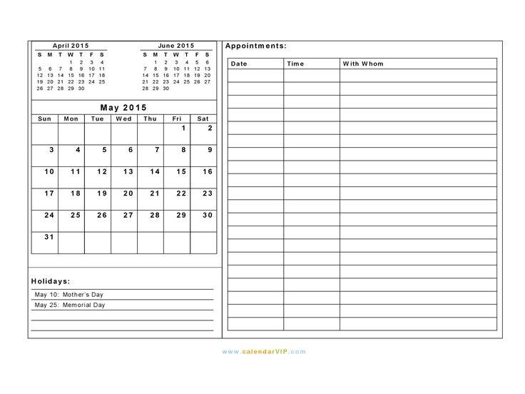 25+ melhores ideias de 2015 calendar template no Pinterest - annual calendar template