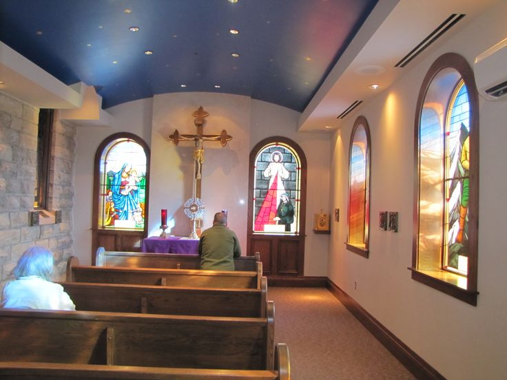 Eucharistic Adoration Chapel, St. Michael's Church, Stillwater, MN. I love small chapels with stained-glass windows. There is one at SSPX OLO Sorrows but can't find a picture of it.