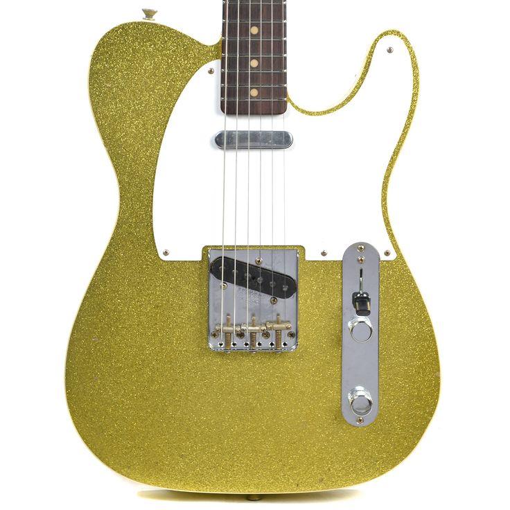 Fender Custom Shop 1962 Telecaster Custom Journeyman Relic RW Aged Chartreuse Sparkle (Serial #R85900)
