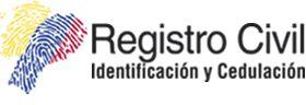Registro civil en ecuador