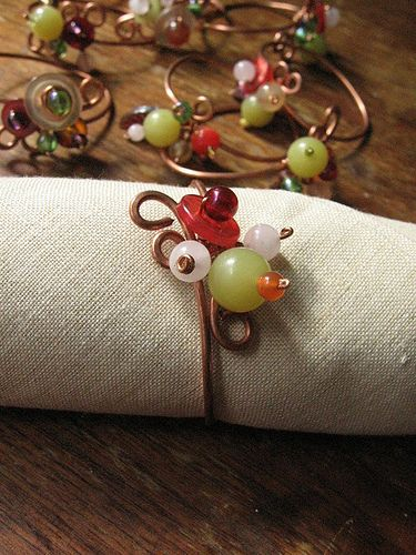Recycled wire napkin rings | Flickr - Photo Sharing!
