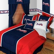 Find Atlanta Braves Bedding Sheets Comforters Pillows And All Your Decorating Items At Laurens Linens This Pin More On Major League