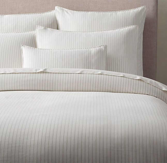 rhu0027s soft cotton pinstripe duvet coverfree shippinga mix of delicate and bold pinstripes makes