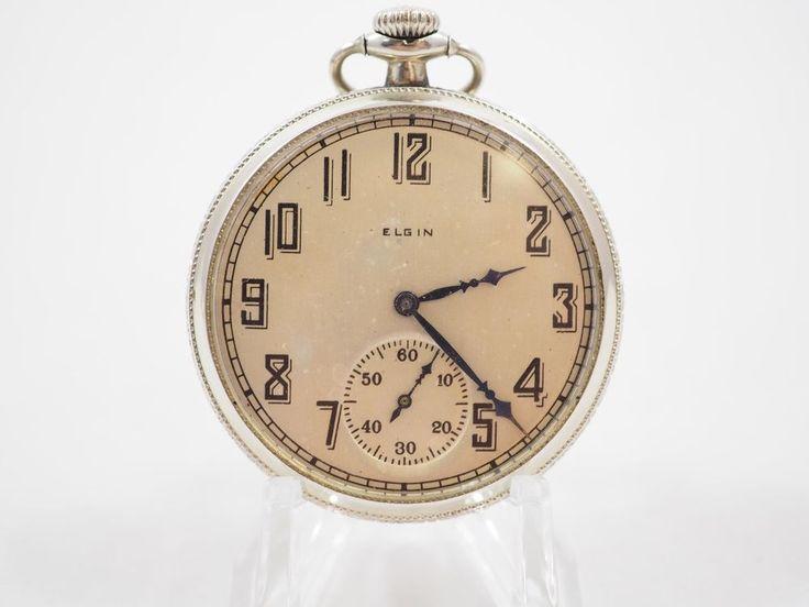Old Antique Running Elgin 12s 15J Pocket Watch OF Wadsworth 14K Gold Filed Case #ElginNationalWatchCompany