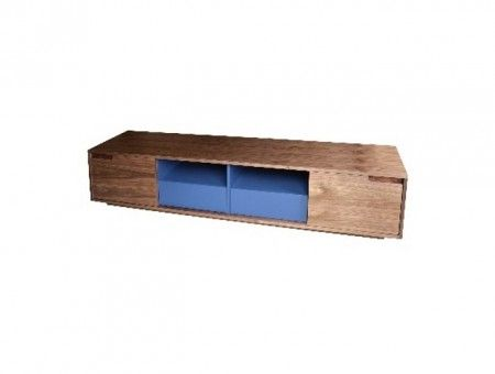 Songdream TV 9720 TV Stand-Walnut + Blue
