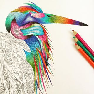 Color in a relaxing adult coloring book. | 27 Things To Do Before Bed That Don't Involve Watching Netflix