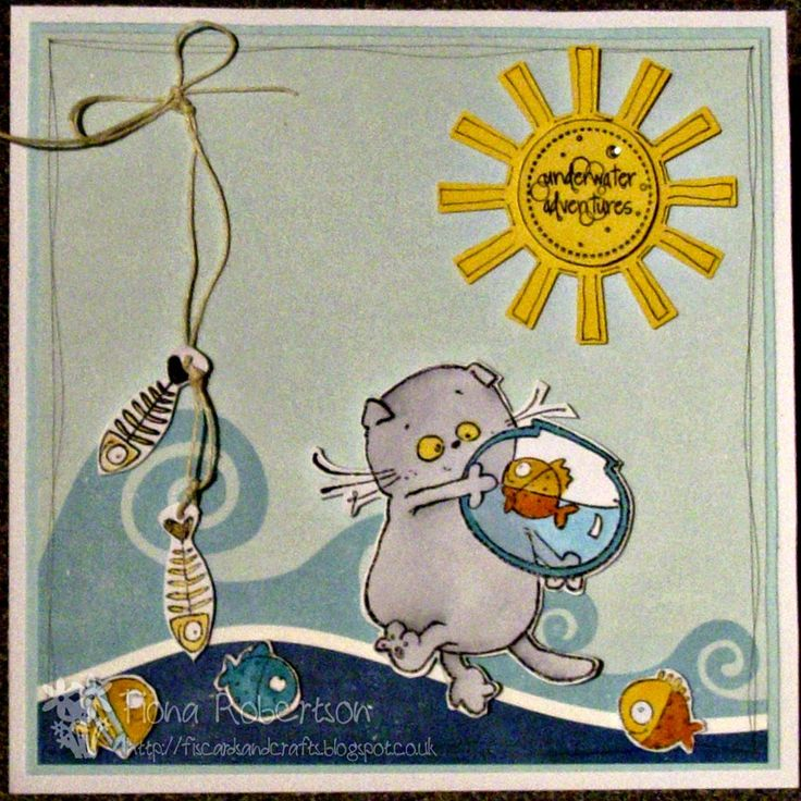 Sugar Nellie blog - scrapberry's basik and fishes stamp