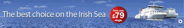 Stena Line Ferries/Rail/Coach Services between Ireland, UK, Scotland, Main Europe