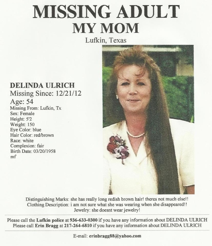 Missing Persons of America : Delinda Ulrich: Missing from Texas