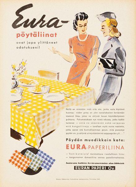 Mainos: Euraliinat, 1940-luku