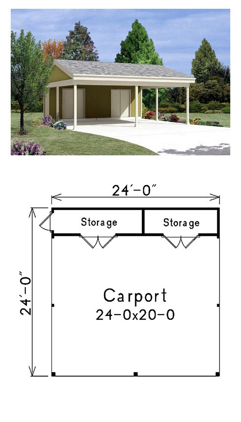 Carports and garages plans woodworking projects plans for Carport garage plans
