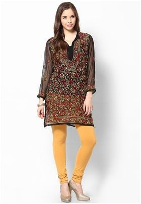 Self Design Women's Chikan Kurti List price: Rs999   Rs699 You save: Rs300 (30%)  Specifications GENERAL DETAILS Pattern	Self Design Ideal For	Women's Occasion	Casual