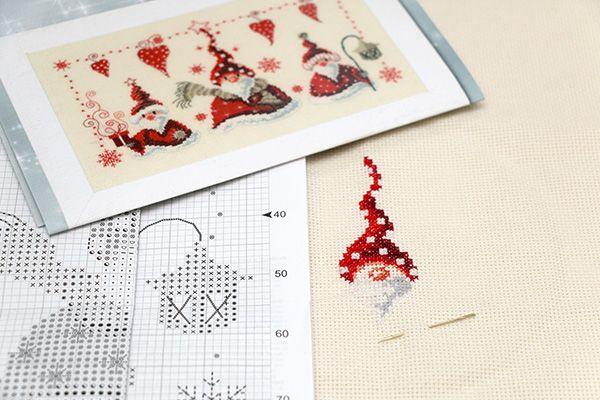 Kerstman borduren Jip by Jan