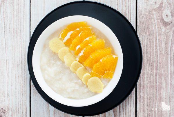 Płatki ryżowe z pomarańczą i imbirem